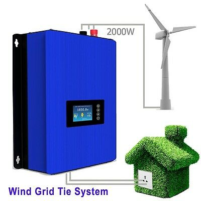 2000W Wind Turbine on Grid Tie Inverter Home Power Sun 2000G2 WAL 45-90v 3 phase