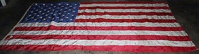 ~Quality ~Vintage ~Large ~USA Flag ~Stars and Stripes ~Embroidered Stars~ VGC~