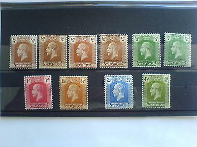 Cayman Islands KGV 1921 -26 Selection of 10 Stamps (9 MM & 1 Used)
