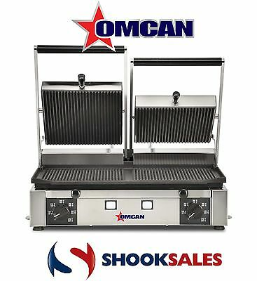 Omcan 19937 Commercial SS Steel Panini Pita Ribbed Sandwich Grill ETL New York