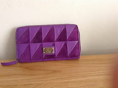 Tommy and Kate Purple Leather Purse