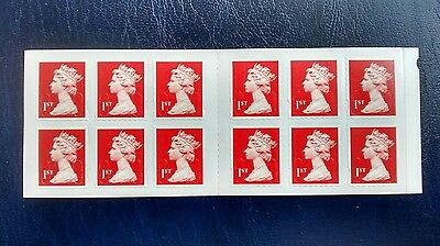 Forgery 1st Class Red Machin M12L Booklet of 12  WITH WAVY PERF