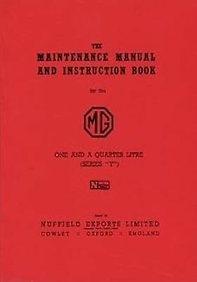 MG Y Series 1948 to 53  Shop manual Catalogue Book paper