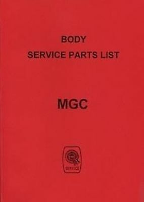 MG C 1968 Car Parts manual for body Publication No. AKD5067 Catalogue Book Paper