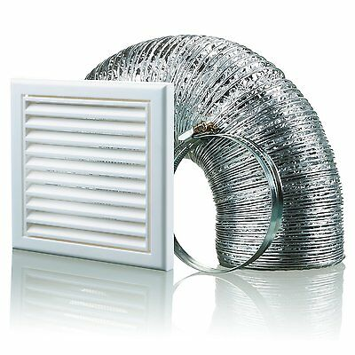 Blauberg UK BB-CHK-150-3-VSWH 150 mm Cooker Hood Duct Vent Kit Fan Extractor -