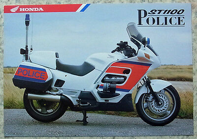 HONDA ST1100 POLICE (ED TYPE) Motorcycle Sales Specification Leaflet c2006