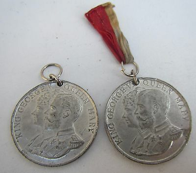 2 Old Medals to Commemorate The Silver Jubilee King George V & Queen Mary 1935