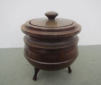 Vintage 'P.J.Van Reenen' Stinkwood Pot with Lid