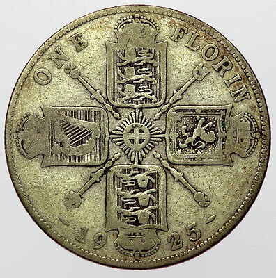 1925 Florin George V ~ Scarce Date