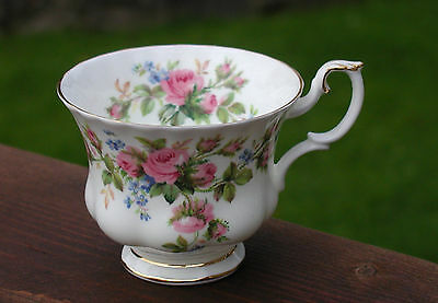 Royal Albert Large Porcelain Cup In The Colourful Moss Rose Design