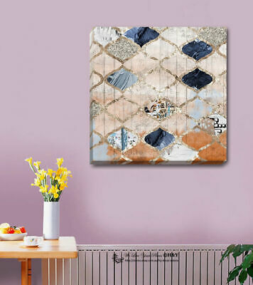 Abstract Geometric Pattern Stretched Canvas Print Framed Wall Art Decor Painting