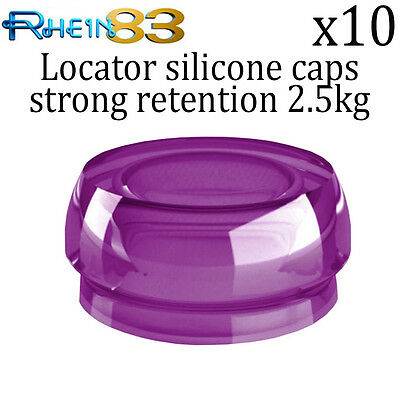 10x Rhein 83 Dental Implant Locator Silicone Flat Strong Retention Caps
