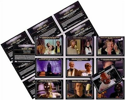 "Star Wars Galactic Files Series 2: 10 Card ""Classic Lines"" Set CL1-10"