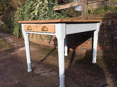 Shabby Chic Vintage Wooden Farmhouse Kitchen Table