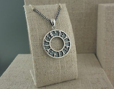 """Sterling Silver Rune Pendant KEITH JACK Jewelry says """"My love, kiss me"""" Norse"""