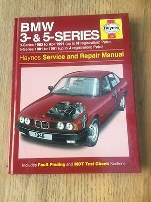 BMW 3 & 5 Series 83 to 91Haynes Workshop Manual Used But Very Good Free PP