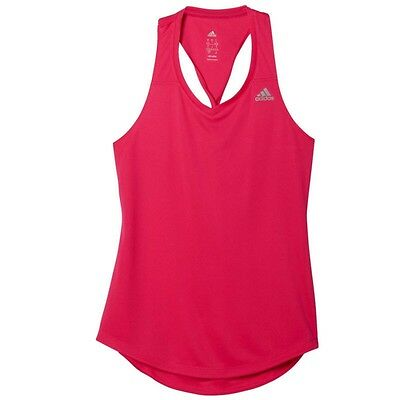 adidas Climalite Womens Ladies Running Fitness Tank Vest Singlet Pink
