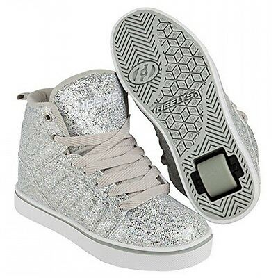 Heelys Uptown Hi-Top Shoes - Silver Disco Glitter + Free DVD