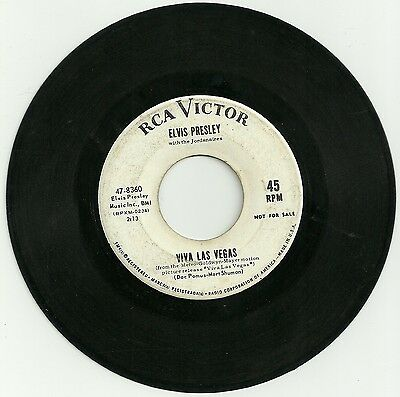 Elvis Presley - US demo/promo single from the 60s.....Graded VG ish.