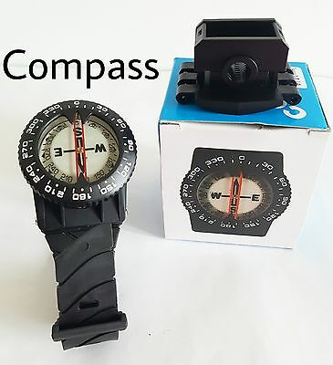 Wrist Mounted Scuba Diving Compass with Hose Mount