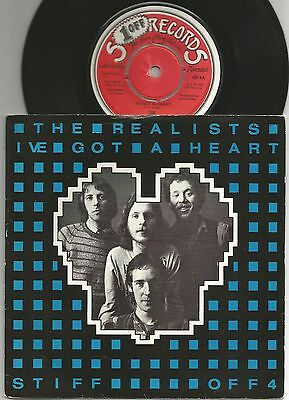 """The Realists I've Got A Heart Living In Te City Stiff 7"""" 45"""