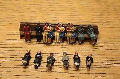 Rare Vintage Metal Oo Gauge Couples Others Sitting Modern Plastic Hornby Bench