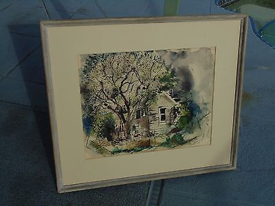 Rare Well Listed New York James Vullo Original 1946 Signed Water Color Painting