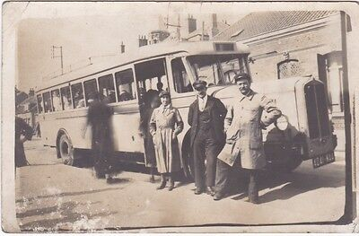 Calais - 62 : Carte-Photo - Bus A L'arret - 1931
