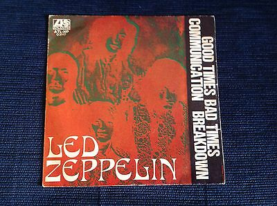 LED ZEPPELIN GOOD TIMES BAD TIMES Very Rare 1969 Italy 45 Great Cover