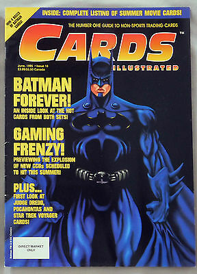 June 1995 Cards Illustrated Non Sports Trading Guide Batman Forever