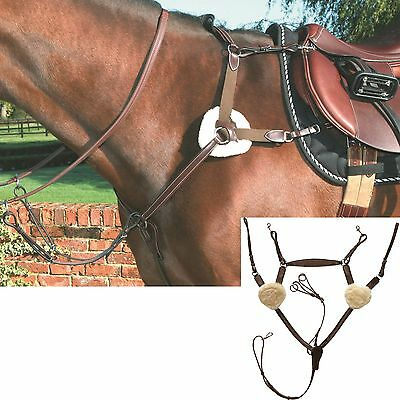 MARK TODD DELUXE 5-POINT Breastplate Leather Eventing Black Havana Cob Full X-F