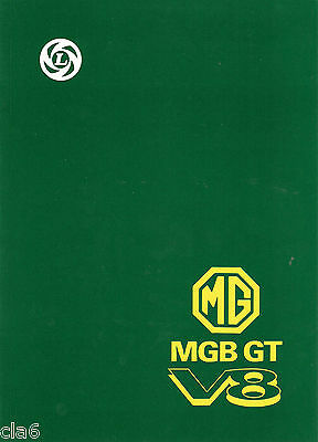 MGB GT V8 Workshop Manual Supplement *NEW