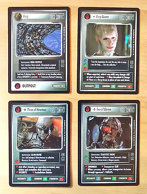 100% Complete M/nm Star Trek: First Contact Ccg (1997) + Free Extras