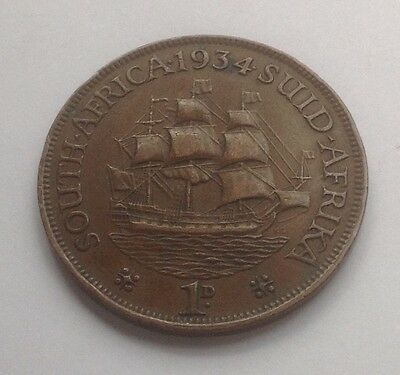 South Africa George V Penny 1934