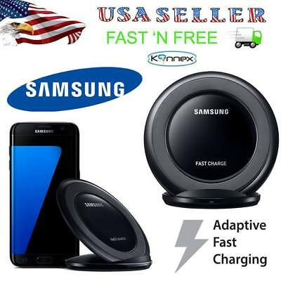 Black OEM Samsung Fast Charging QI Wireless Charger Stand Pad S7 S6 Edge Note 5