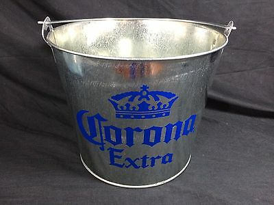 Corona Extra Beer Ice Bucket Cooler New! w/bottle opener Bar Pub Man Cave