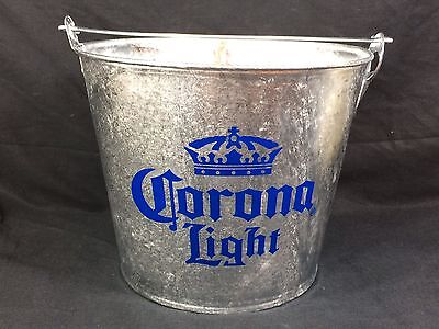 Corona Light Beer Ice Bucket Cooler New! w/bottle opener Bar Pub Man Cave