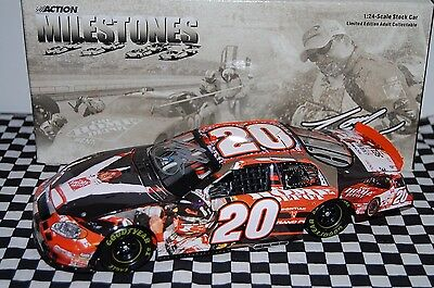 Tony Stewart #20 Milestones / ROTY Chevy 1:24 scale NASCAR Die-Cast AUTOGRAPHED