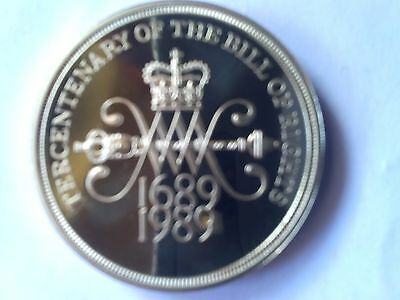 £2 Rare Royal Mint Proof Tercen Bill OF Rights Coin Unc Encapsulate