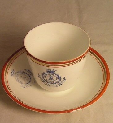 Salvation Army - TEA CUP & SAUCER WITH CROWN CREST