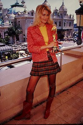 vintage celebrity 35mm Slide -  claudia schiffer     *ve6