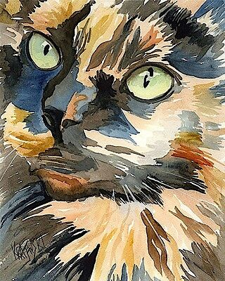 Calico Cat 11x14 signed art PRINT from painting RJK