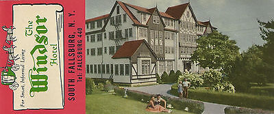 Windsor Hotel South Fallsburg NY Vintage Booklet Color Photos Catskills