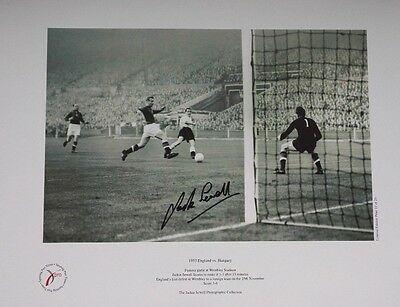 JACK SEWELL - ENGLAND vs HUNGARY 3-6 WEMBLEY. SIGNED LIMITED EDITION PRINT. 1953