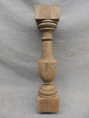 Thick Antique Turned Wood Spindle Porch Baluster Old Vtg Architectural 135-17R