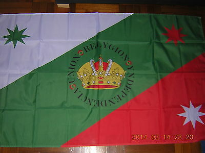 100% NEW reproduced First flag of the Mexican Empire Mexico Ensign 3ftX5ft