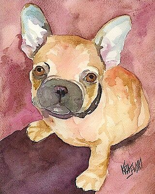 French Bulldog 11x14 signed art PRINT from painting RJK