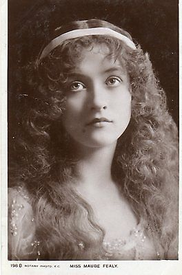 Vintage Postcard Miss Maude Fealy Actress Edwardian Beauty Glamour Long Hair Rp