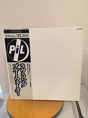 "Rare PIL "" Not A Love Song / Blue Water "" Japan 12"" Vinyl Single  Excellent"