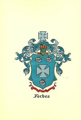*Great Coat of Arms Forbes #2 Family Crest genealogy, would look great framed!